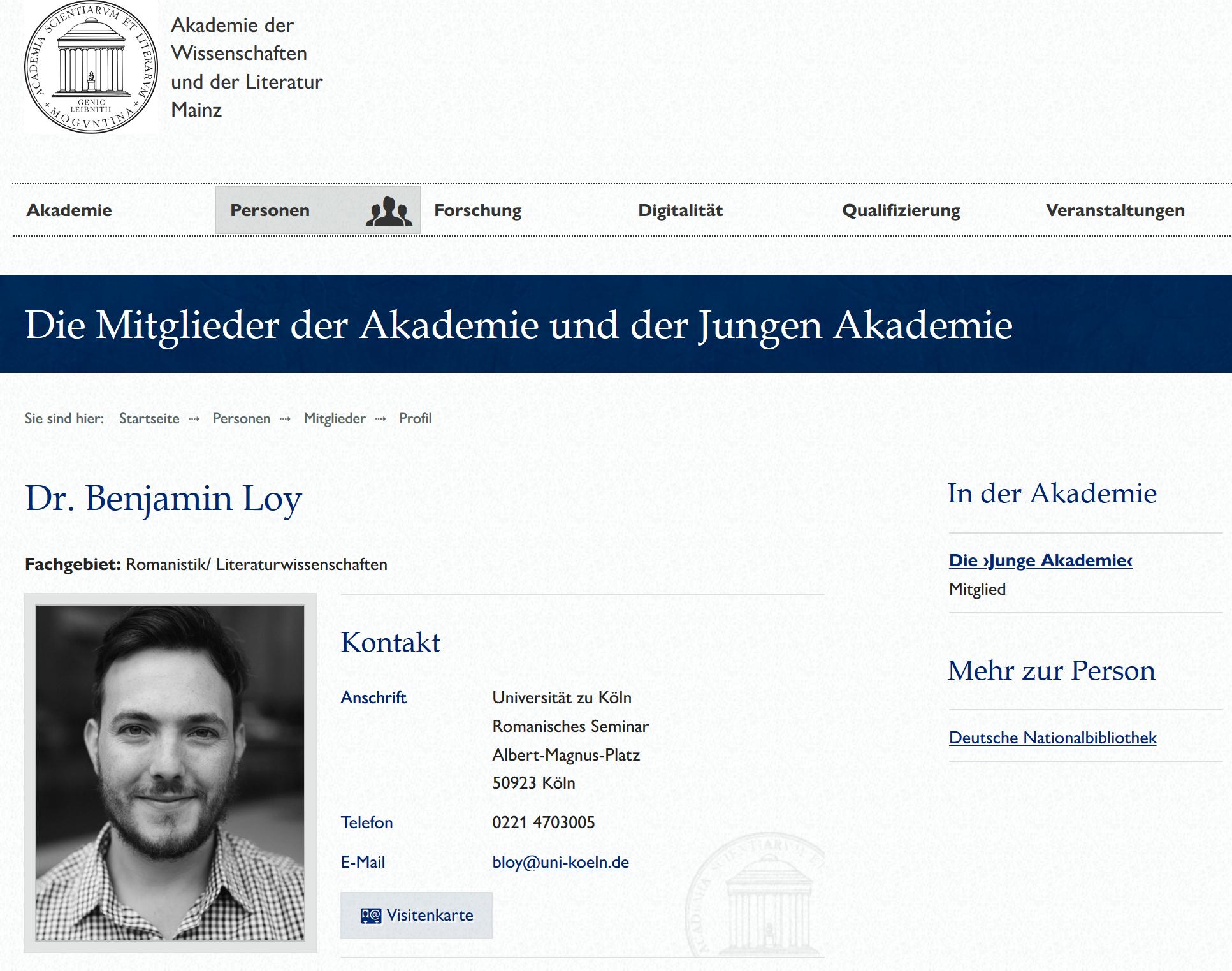 Screenshot_2020-05-06 Dr Benjamin Loy Akademie der Wissenschaften und der Literatur Mainz
